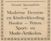 advertentie - Fa. G. J. Smits