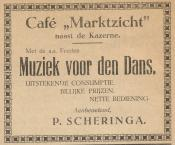 advertentie - Cafe Marktzicht - P. Scheringa