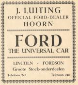 advertentie - Autohandel J. Luiting
