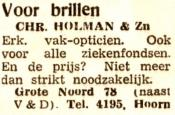advertentie - Chr. Holman & Zn.