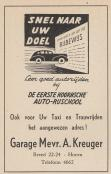 advertentie - Garage Mevr. A. Kreuger