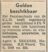 advertentie - Agent S. Dekkers